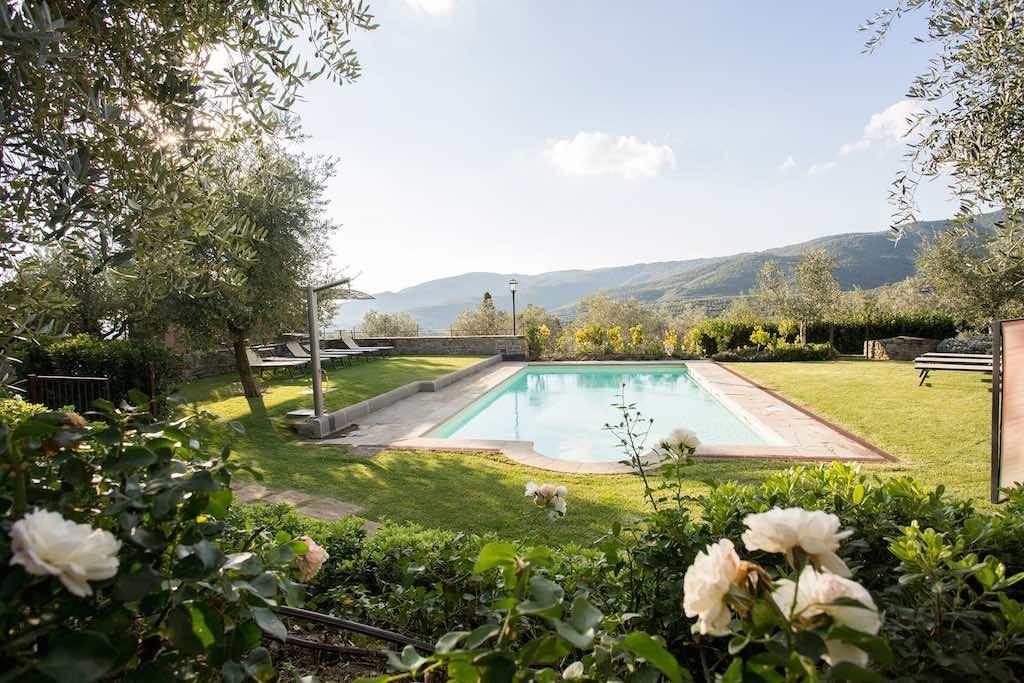 Naturstein Villa Toskana mit Pool bis 10 Pers.