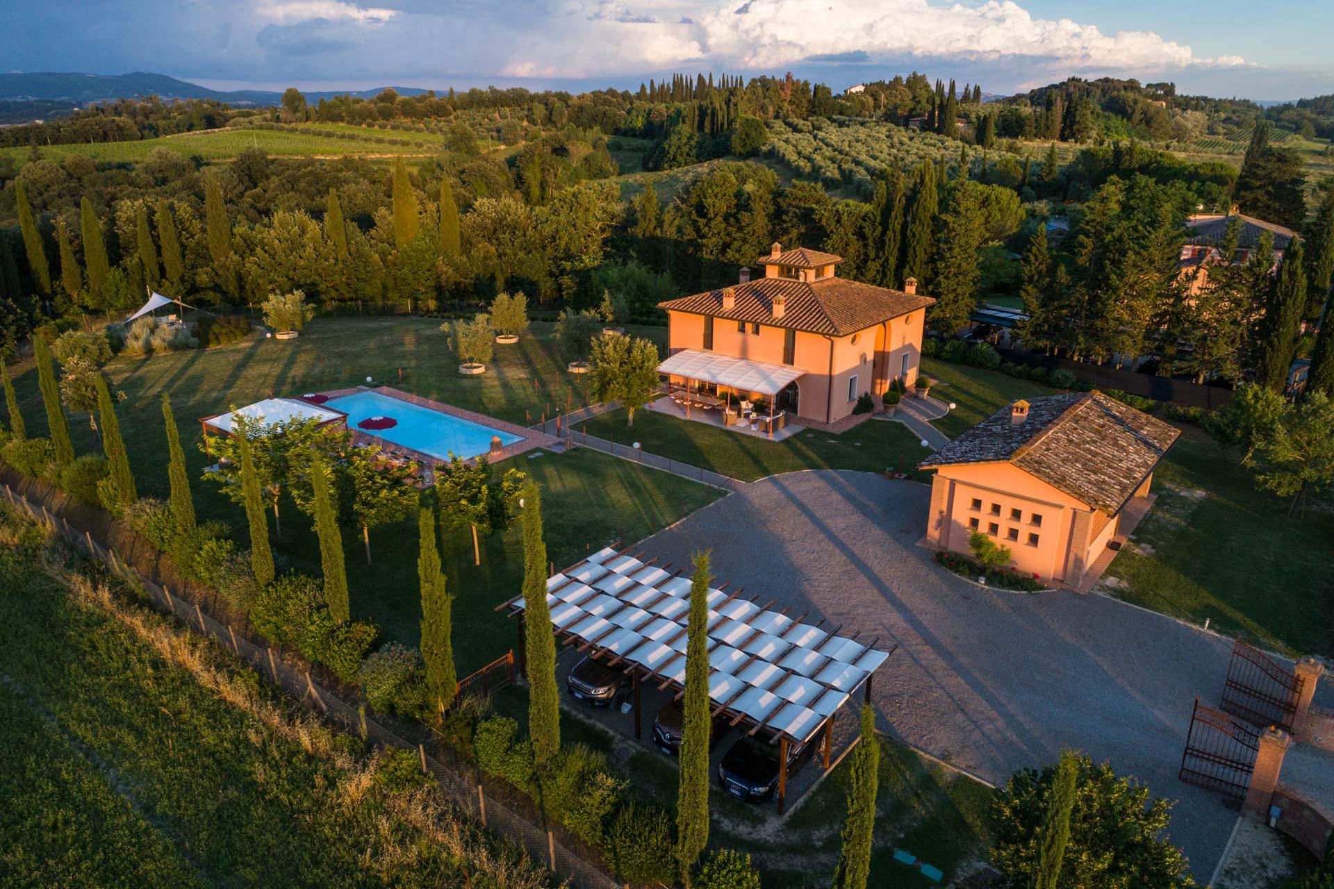Design Toskana Villa mit privatem Pool